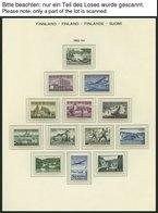 SAMMLUNGEN **, 1962-79, Kompletter Sammlungsteil Auf Schaubek Falzlosseiten, Pracht, Mi. 500.- - 1856-1917 Russian Government