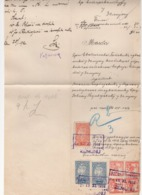 19.11.1919. KINGDOM OF SHS, ZEMUN, CHAIN BREAKERS, VERIGARI, POSTAL STAMPS AS REVENUE,  ERROR ON 2KR STAMP - 1919-1929 Königreich Der Serben, Kroaten & Slowenen