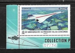 PA 83a N++ 50ème Anniversaire Du 1er Vol Du Concorde, Coin De Feuillet - 1960-.... Postfris
