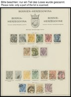 BOSNIEN UND HERZEGOWINA O,* , Meist Gestempelte Sammlung Bosnien Und Herzegowina Mit Vielen Guten Sätzen, Bis Auf 2 Port - Bosnien-Herzegowina