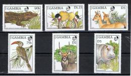 Gambie / Faune / Yvert N° 691 + 693 + 698-701 ** - Gambie (1965-...)