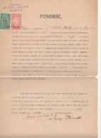 18.11.1919. KINGDOM OF SHS, ZEMUN, CHAIN BREAKERS, VERIGARI, POSTAL STAMPS AS REVENUE, ERROR ON 1KR STAMP - 1919-1929 Königreich Der Serben, Kroaten & Slowenen