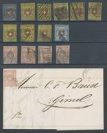 LOTS O,Brief , 1850-52, RAYON, I - III, 14 Werte Und Ein Brief In Fehlerhafter Erhaltung - Sammlungen