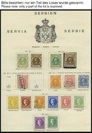 SERBIEN *, O, Alter Sammlungsteil Serbien Bis 1911, Mit Mi.Nr. 4 - 6 Gestempelt, 9/10A Und B * Etc., Fast Nur Prachterha - Serbien