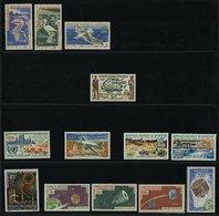 MAURETANIEN **, 1960-68, Partie Verschiedener Kompletter Flugpost-Ausgaben, Pracht, Mi. 240.- - Mauretanien (1960-...)