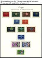 EUROPA UNION **, 1958-60, Stilisierte Taube, Geschlossene Kette Und Wagenrad, 3 Komplette Jahrgänge, Pracht, Mi. 218.70 - Sammlungen
