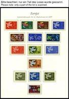 EUROPA UNION **, 1961-64, Taube, Stilisierter Baum, Ornament Und Stilisierte Blume, 4 Komplette Jahrgänge, Pracht, Mi. 2 - Sammlungen