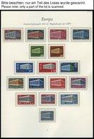 EUROPA UNION **, 1969-71, Stilisierter Tempel, Flechtwerk Und Waagerechte Kette, 3 Komplette Jahrgänge, Pracht, Mi. 272. - Sammlungen