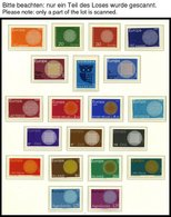 EUROPA UNION **, 1970/1, Flechtwerk Und Waagerechte Kette, 2 Komplette Jahrgänge, Pracht, Mi. 173.- - Sammlungen