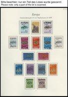 EUROPA UNION O, 1972, Sterne, Kompletter Jahrgang, Pracht, Mi. 136.30 - Sammlungen