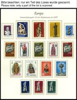 EUROPA UNION **, 1974, Skulpturen, Kompletter Jahrgang, Pracht, Mi. 146.70 - Sammlungen