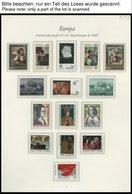 EUROPA UNION **, 1975, Gemälde, Kompletter Jahrgang, Pracht, Mi. 155.10 - Sammlungen
