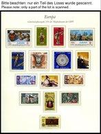 EUROPA UNION **, 1976, Kunsthandwerk, Kompletter Jahrgang, Pracht, Mi. 164.- - Sammlungen