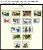 EUROPA UNION **, 1981, Folklore, Kompletter Jahrgang, Pracht, Mi. 102.60 - Sammlungen