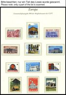 EUROPA UNION **, 1990, Postalische Einrichtungen, Kompletter Jahrgang, Pracht, Mi. 219.- - Sammlungen
