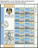EUROPA UNION KB O, 1992, Entdeckung Amerikas, 14 Verschiedene Kleinbogensätze, Pracht, Mi. 710.- - Sammlungen