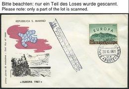 EUROPA UNION FDC BRIEF, 1961, Taube, Komplett Auf FDC`s, Einige Etwas Gelblich Sonst Pracht, Mi. 70.- - Sammlungen