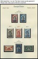 EUROPA UNION **, Postfrische Sammlung Europa-Union Von 1956-92 In 5 Leuchtturm Alben, Komplett Bis Auf Andorra-Spanische - Sammlungen