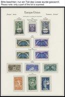 EUROPA UNION O, 1952-76, Fast Komplette Gestempelte Sammlung Sympathie- Und Mitläuferausgaben Und KSZE Mit Gezähnten Und - Sammlungen