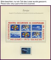 EUROPA UNION **, Postfrische Sammlung KSZE Von 1973-83 Auf Borek Falzlosseiten, Mit Bulgarien Bl. 106, Rumänien Bl. 125  - Sammlungen