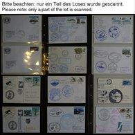 ANTARKTIS 1997-2001, Antarktis Expeditionen, 100 Verschiedene Belege, Meist Deutsche Institute, Im Spezialalbum, Pracht - Briefmarken