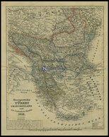 Generalkarte, Europäische Türkey, Griechenland Und Die Ionischen Inseln, Grenzkolorierter Stahlstich Von Renner, 1852 - Mappe