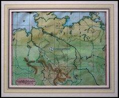 Der Niedersächsische Kreis, Blindkarte, Kolorierter Kupferstich Von Güssefeld, Weimar 1803 - Mappe