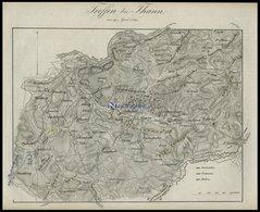 Treffen Bei Thann Am 19. April 1809, Kupferstich-Plan Von Rothenburg Um 1830 - Mappe