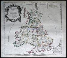 Großbritannien Und Irland, Britannicae Insulae, Grenzkolorierter Ku- St. Von Robert Du Vaugondy Aus Atlas Universel, 178 - Mappe