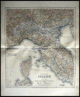 Der Nördliche Teil, Grenzkolorierter Stahlstich Aus Meyers Hand-Atlas, 1875 - Mappe