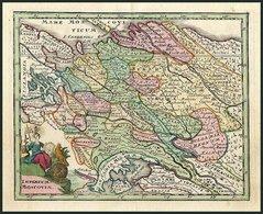 Generalkarte, Imperium Moscoviae, Rußland (oder Mocau) Mit Der Russischen Tartarey Und Dem Russischen Lappland, Altkolor - Mappe
