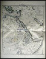 Der Nordöstliche Teil, Grenzkolorierter Stahlstich Aus Meyers Hand-Atlas, 1875 - Mappe