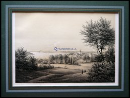 SVENDBORG (Svendborg), Gesamtansicht, Lithographie Mit Tonplatte Von Alexander Nay Nach A. Juuel Bei Emil Baerentzen, 18 - Lithographies