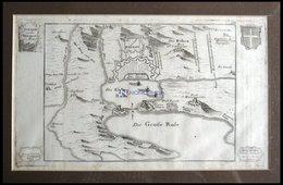 TOULON, Kupferstich-Plan Von Bodenehr Um 1720 - Lithographies