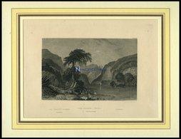 Das TEMPE-THAL, Stahlstich Von B.I. Um 1840 - Lithographies