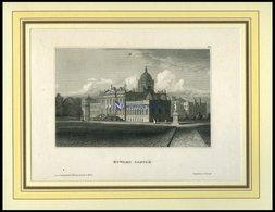 HOWARD CASTLE, Ansicht Vom Park Aus, Stahlstich Hildburghausen, 19. Jh. - Lithographies