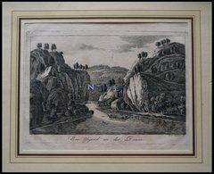 Gegend An Der Donau, Kupferstich Um 1700 - Lithographies