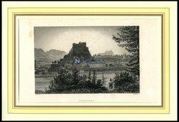 SALZBURG, Gesamtansicht, Stahlstich Von Alt/Winkles Um 1840 - Lithographies