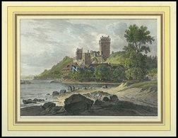 VEIDENECK, Gesamtansicht, Kolorierter Holzstich Um 1880 - Lithographies