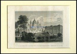 WIEN: Die Carls (Boromä) Kirche Und Das Politechnische Institut, Stahlstich Von Bayrer/Hoffmeister, 1840 - Lithographies