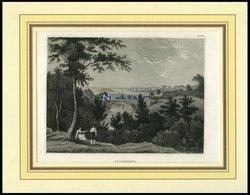 CARLSCRONA, Gesamtansicht Aus Der Ferne, Stahlstich Von B.I. Um 1840 - Lithographies