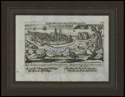 LANDSKRONA, Gesamtansicht, Kupferstich Von Meisner Um 1678 - Lithographies