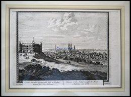 UPPSALA, Gesamtansicht, Kupferstich Von Schenk Um 1702 - Lithographies