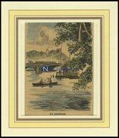 BABEL: Die Brücke, Kolorierter Holzstich Von 1876 - Lithographies