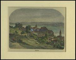 GRANDSON, Gesamtansicht, Kolorierter Holzstich Um 1880 - Lithographies