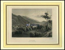 ILANZ/GRAUBÜNDEN, Gesamtansicht, Stahlstich Von Rohbock/Oeder Um 1840 - Lithographies