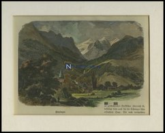 MEYRINGEN, Gesamtansicht, Kolorierter Holzstich Um 1880 - Lithographies