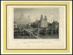 KLOSTER RHEINAU/KANTON ZÜRICH, Stahlstich Von Lange/Kolb Um 1840 - Lithographies
