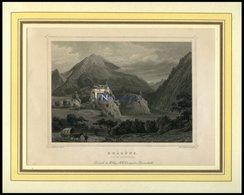 RHÄZÜNS, Teilansicht, Stahlstich Von Rohbock/Poppel Um 1840 - Lithographies