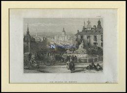 MADRID: Die Algala, Stahlstich Von B.I. Um 1840 - Lithographies